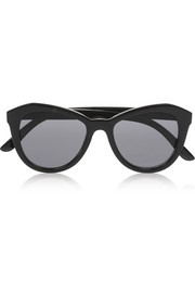Le Specs Peach Pit cat eye acetate sunglasses