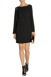 Versus Cutout embellished crepe mini dress