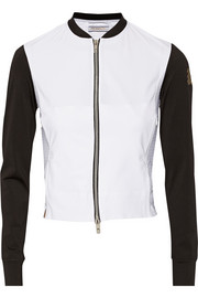 Monreal London Paneled perforated stretch-jersey jacket