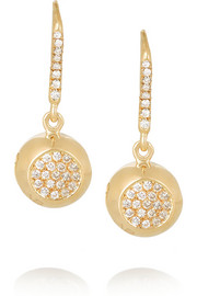 Aurélie Bidermann Fine Jewelry 18-karat gold diamond bell earrings