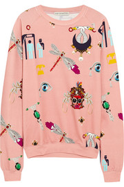 Mary Katrantzou Printed stretch-cotton jersey sweatshirt