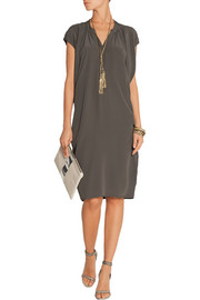 DAY Birger et Mikkelsen Fan draped silk-crepe dress