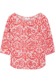 Fresco printed jersey top