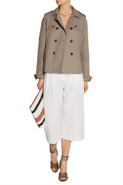 Palazzo short cotton-blend trench jacket
