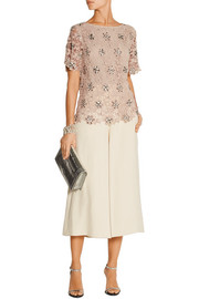 DAY Birger et Mikkelsen Organi embellished crocheted cotton top