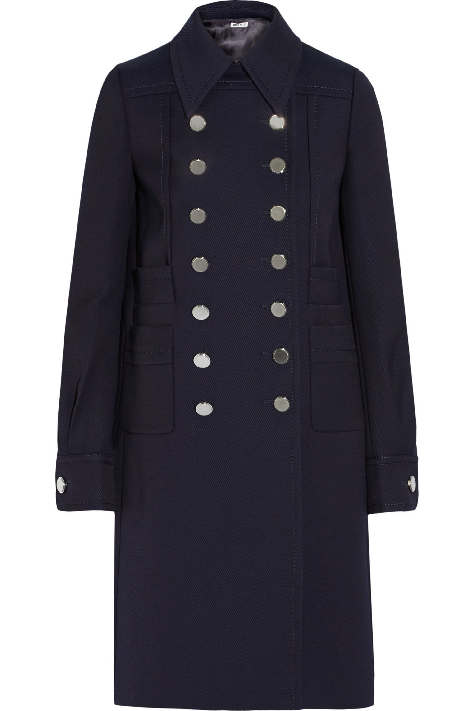 Miu Miu Double-breasted twill coat