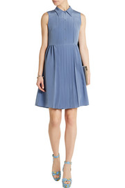 Miu Miu Pleated silk crepe de chine dress
