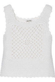 Crocheted cashmere top