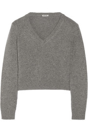 Miu Miu Cropped cashmere sweater
