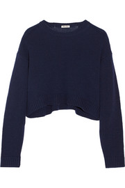 Cropped oversized cashmere sweater