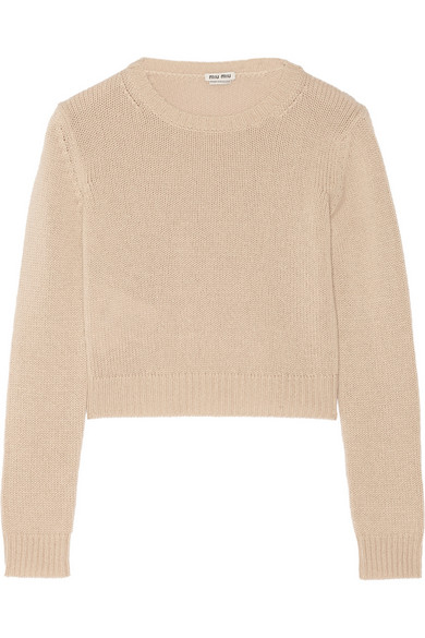 Cropped Cashmere Sweater by Miu Miu