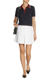 Pleated cady mini skirt