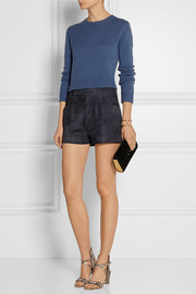 Miu Miu High-rise suede shorts