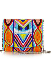 Sonoma beaded canvas clutch