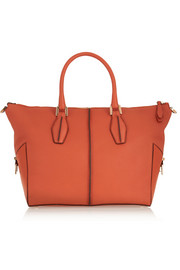 D-Cube Mickey small textured-leather tote