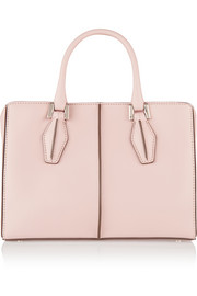 D Cube Shopping mini leather tote