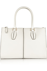D-Cube Shopping large two-tone leather tote