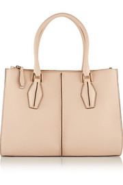 D-Cube Shopping textured-leather tote