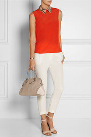 Sella small textured-leather tote