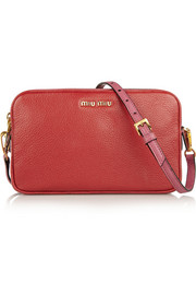 Madras two-tone leather shoulder bag