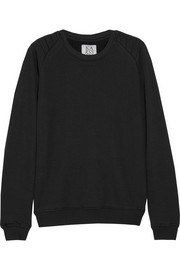 Cotton-blend terry sweatshirt