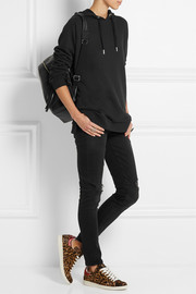 Zoe Karssen Cotton-blend jersey hooded top