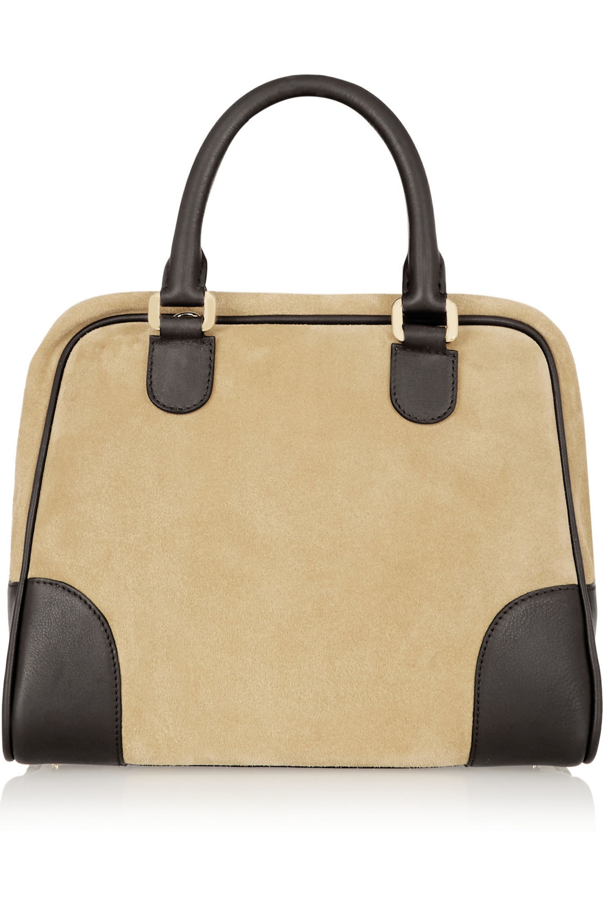 Loewe Amazona 75 suede and leather tote