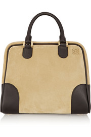Amazona 75 suede and leather tote