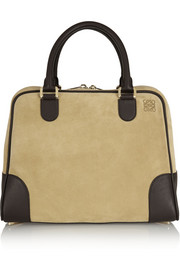 Loewe Amazona 75 large suede and leather tote