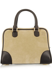 Loewe Amazona 75 small suede and leather tote