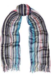 Missoni Metallic crochet-knit scarf