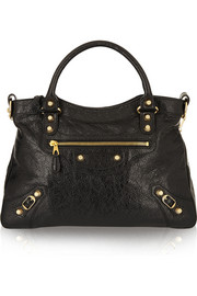 Town textured-leather tote