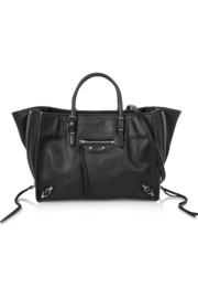 Papier A6 textured-leather shoulder bag
