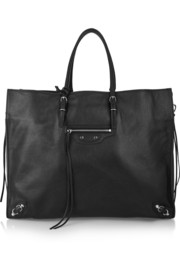 Papier A4 leather tote