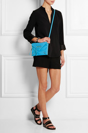 Papier mini textured-leather shoulder bag