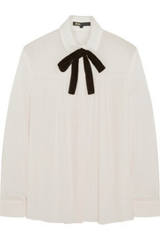 Maje Gustin pussy-bow muslin blouse