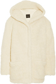 Maje Girofard hooded faux shearling coat