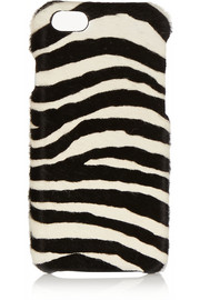 Zebra-print calf hair iPhone 6 case