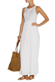 Stretch Supima cotton and modal-blend jersey maxi dress