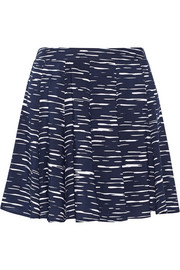 Printed voile mini skirt