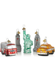 Bombki Little New York set of five glass baubles
