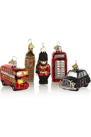 Bombki Little London set of five glass baubles