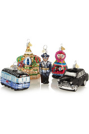 Bombki Little Russia set of five glass baubles