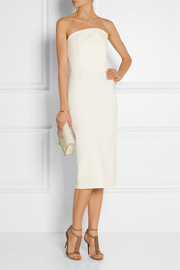 Electra strapless wool-crepe dress