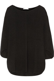 Duffy Ribbed cashmere poncho