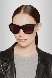 Alexander McQueen Studded cat eye acetate sunglasses