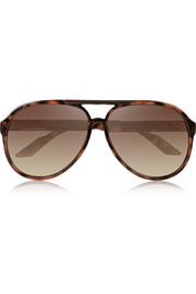 Gucci Aviator tortoiseshell acetate sunglasses