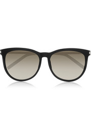 Saint Laurent D-frame acetate and metal sunglasses