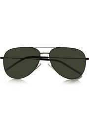 Aviator-style stainless steel sunglasses