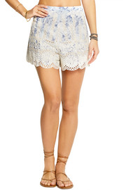 Zimmermann Confetti embroidered cotton-voile shorts